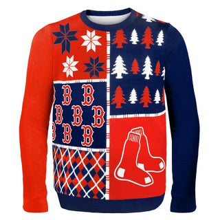 Forever Collectibles MLB Boston Red Sox Busy Block Ugly Sweater