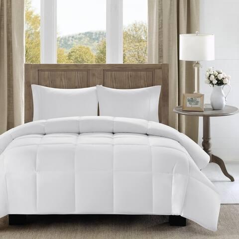 Madison Park Westport 300 Thread Count Cotton Percale Luxury Down Alternative Comforter