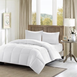Madison Park Westport Year Round 300TC Luxury Cotton Percale Overfilled Down Alternative Hypoallergenic Comforter