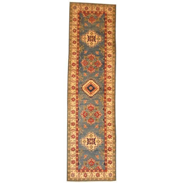 Herat Oriental Afghan Hand-knotted Tribal Kazak Wool Rug (2'8 x 10')
