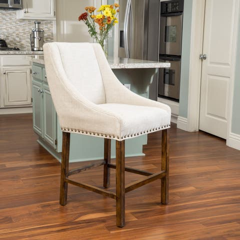 James 27-inch Fabric Counter Stool by Christopher Knight Home