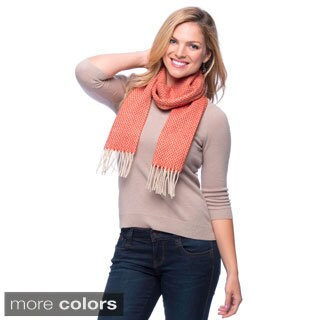 Heavy Wool Tone on Tone Scarf