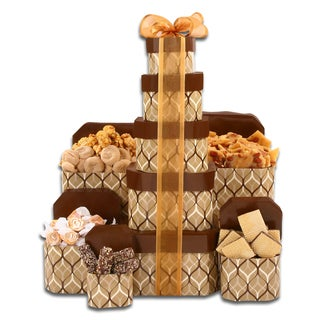 Alder Creek Gold Fall Treat and Candy 5-Box Gift Tower