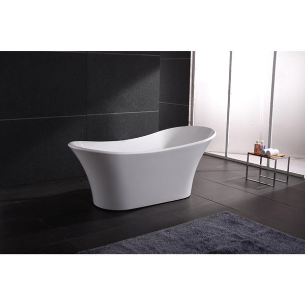 Akdy 71 inch osf274 ak europe style white acrylic free for European bathtub