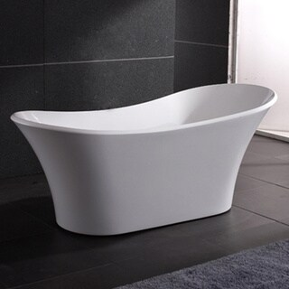 AKDY 71-inch OSF274-AK Europe Style White Acrylic Free Standing Bathtub