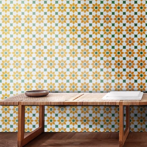 Handmade Ahfir in Yellow and Green Tile (Morocco)