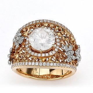 Diamonds for a Cure 18k Rose Gold 2ct TDW Diamond Butterfly Ring (I-J, I2-I3)