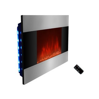 Golden Vantage 36-inch OS510DPB-GV Free Wall Indoor Heater Electric Fireplace