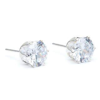 Alexa Starr Round-cut Cubic Zirconia Push Back Earrings