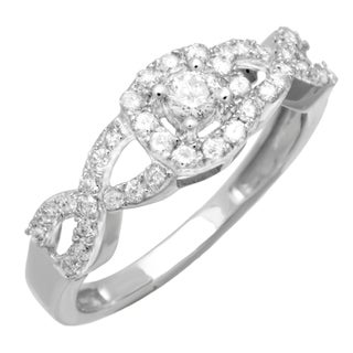 10k White Gold 1/2ct TDW Diamond Promise Ring (H-I, SI1-SI2)
