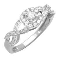 10k White Gold 1/2ct TDW Diamond Promise Ring
