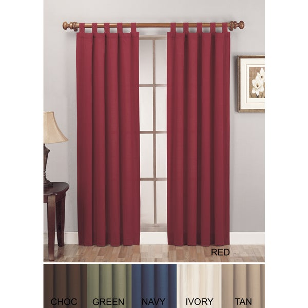 Shop Lightweight Canvas Curtain Panel Pair Free Shipping