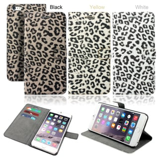 Gearonic Card Holder Leopard Wallet Case for Apple iPhone 6 Plus 5.5""