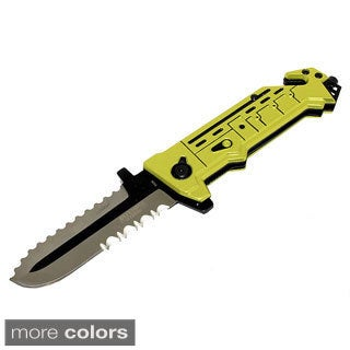 Defender 8-Inch Stainless Steel Spring Assisted Folding Saw Knife