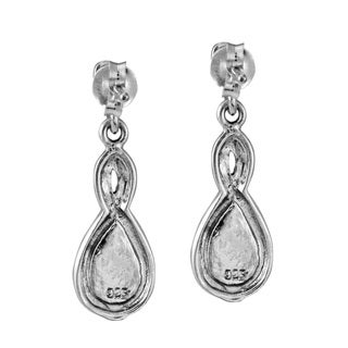 Infinity Twirl Marcasite Stone .925 Silver Earrings (Thailand)