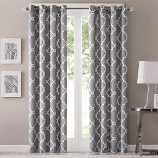 Madison Park Westmont Geometric Pattern Single Curtain Panel