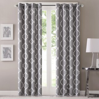 Madison Park Westmont Geometric Pattern Curtain Panel (Single) (More options available)