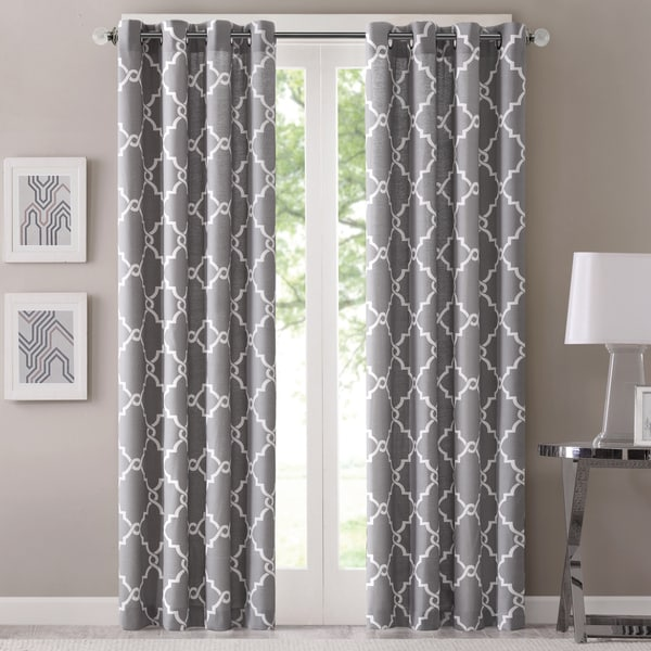 Madison Park Westmont Geometric Pattern Curtain Panel (Single)