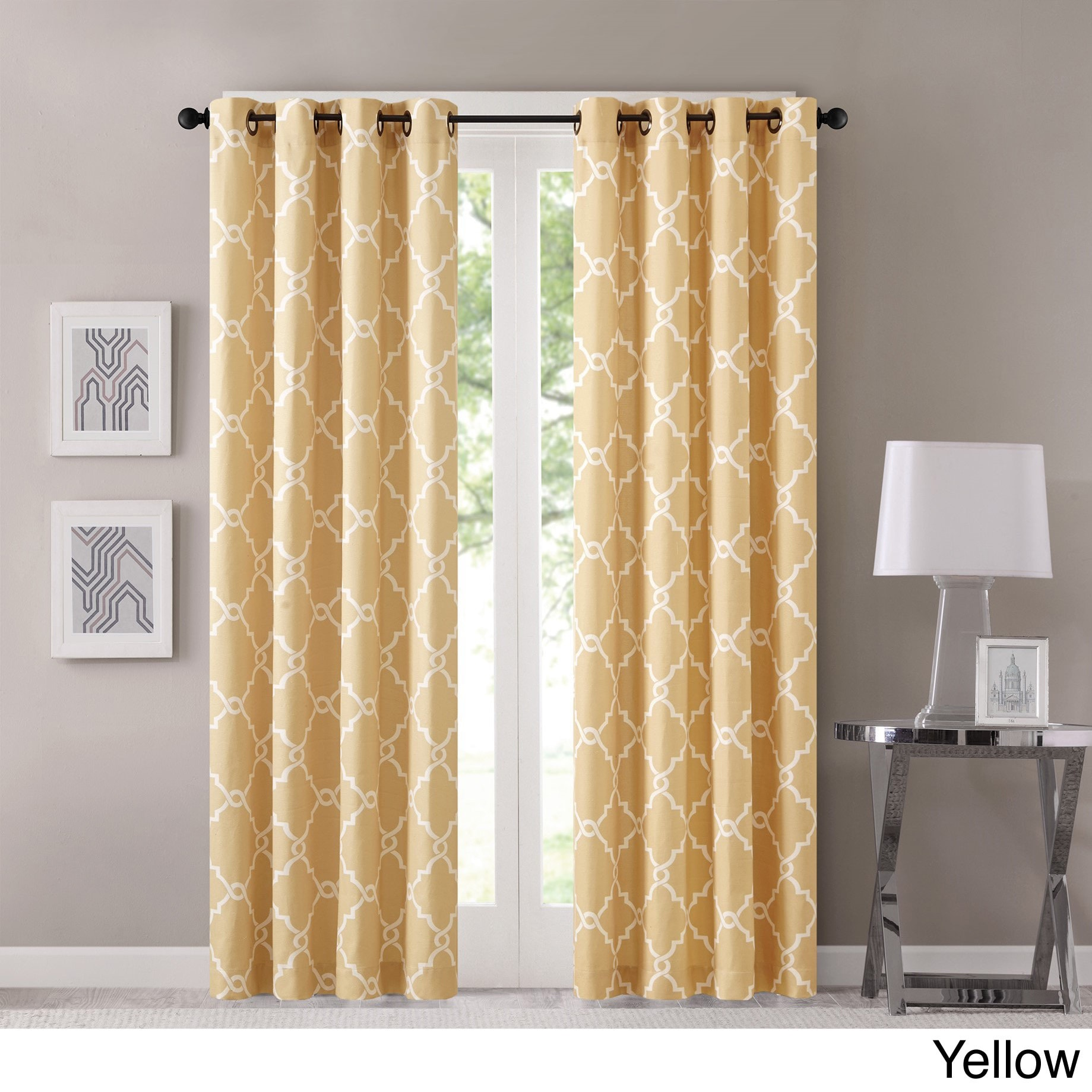 Nice Clay Alder Home Mahned Geometric Pattern Curtain Panel (Single) (4 Options  Available)