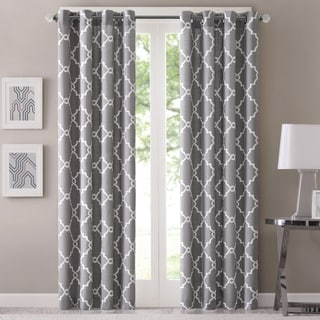 Madison Park Westmont Geometric Pattern Curtain Panel (Single) - Thumbnail 0