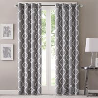 Madison Park Westmont Geometric Pattern Single Curtain Panel