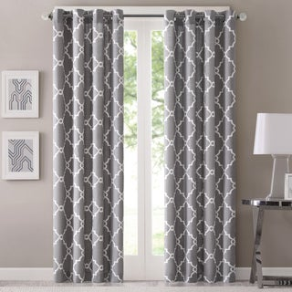 Clay Alder Home Mahned Geometric Pattern Curtain Panel (Single)