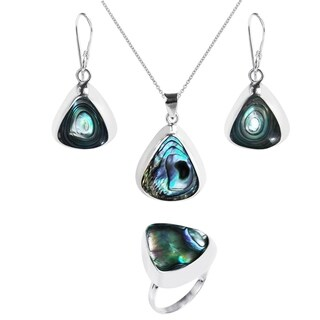 Handmade Enchanting Teardrop Stone .925 Silver Jewelry Set (Thailand) (More options available)