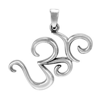 Mystic Peace Om or Aum .925 Sterling Silver Pendant (Thailand)