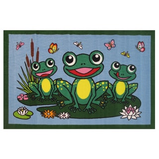 Ribbit Multicolored Accent Rug (3'3 x 4'10)