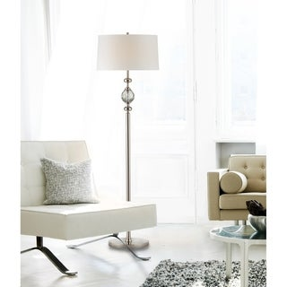 Regent Arms Brushed Nickel Bead Drum Floor Lamp