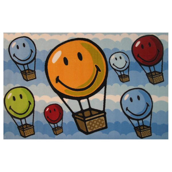 """Up, Up and Away Multicolored Accent Rug (3'3 x 4'8) - 3'3"""" x 4'8"""""""