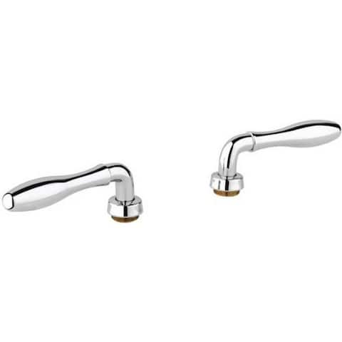 Grohe Starlight Chrome Seabury Chrome Seabury Lever Handles (Pair)
