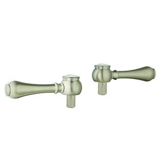Grohe Geneva Geneva Lever HdlsPair Brushed Nickel Infinityfinish