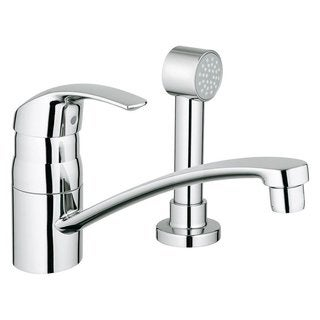 Grohe Starlight Chrome Eurosmart Side Spray (less esc) Kitchen Faucet
