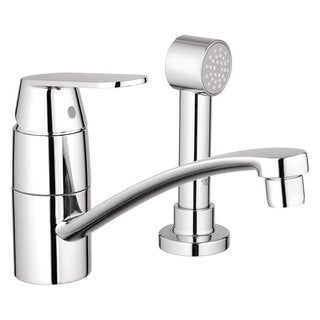 Grohe Starlight Chrome Eurosmart Cosmo withside Spray (less esc) Kitchen Faucet