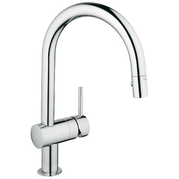 Shop Grohe Minta Starlight Chrome Pull Out Spray Kitchen