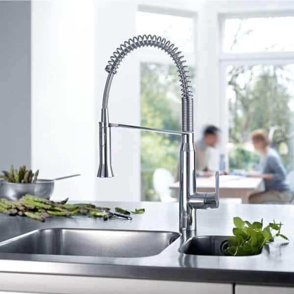 Shop Grohe K7 Single-Handle Sprayer Kitchen Faucet - Overstock