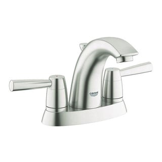 Grohe Infiniti Brushed Nickel Arden 2-handle 4-inch Centerset Bathroom Faucet
