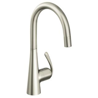 Grohe SuperSteel Ladylux OHM Sink Pull-out Spray Kitchen Faucet