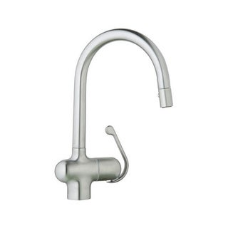 Grohe Stainless Steel Ladylux Pro Main Sink with Pull Down Spray Kitchen Faucet