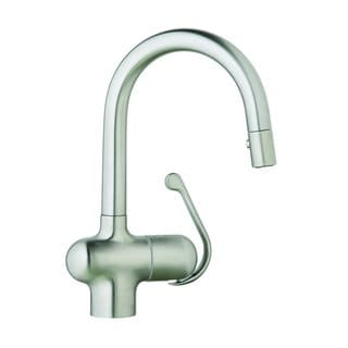 Grohe Stainless Steel Ladylux Pro Prep Sink with Pull Down Spray Kitchen Faucet