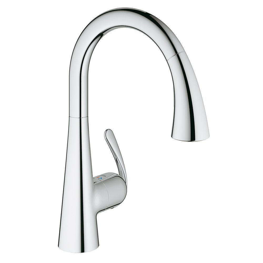 Grohe LadyLux3 Cafe Single-Handle Pull-Down Sprayer Kitchen Faucet with  Dual Spray in StarLight Chrome