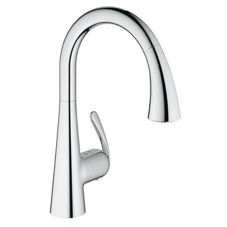 Grohe LadyLux Single-Handle Kitchen Faucet With Pull-Out Sprayer