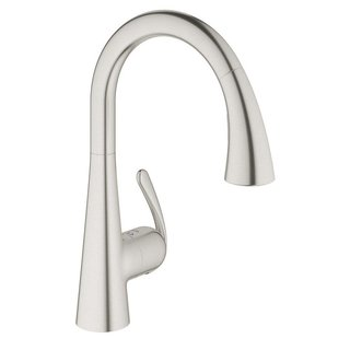 Grohe Stainless Steel Ludylux 3 Cafe Ladylux OHM Sink Pull-out Spray Kitchen Faucet