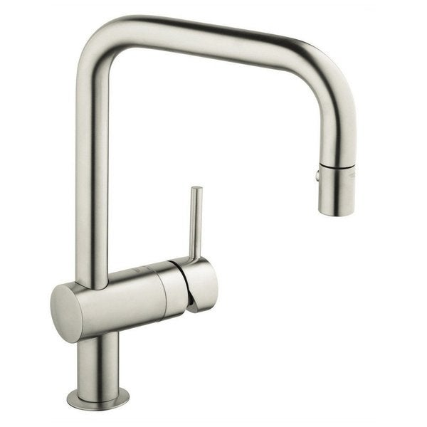 grohe supersteel minta dual pull down spray kitchen faucet