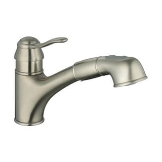 Grohe Infiniti Brushed Nickel Ashford Pull-out Spray Kitchen Faucet
