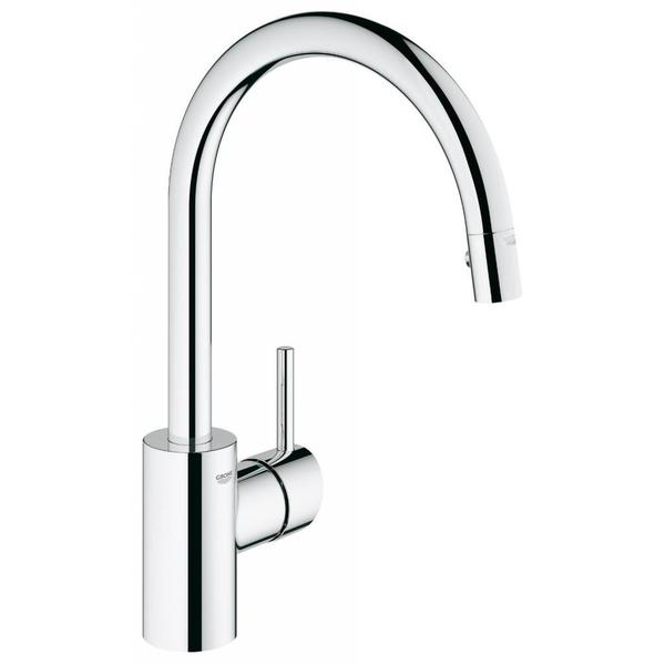 Grohe Starlight Chrome Concetto Dual Pull Down Spray Kitchen Faucet