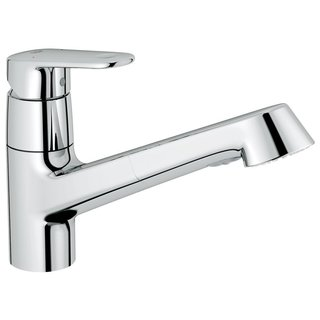 Grohe Starlight Chrome Europlus OHM Sink Pull-out Spray Kitchen Faucet
