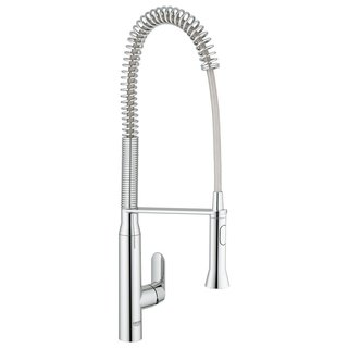Grohe Starlight Chrome K7 K7 Semi-Pro Dual Spray Kitchen Faucet - Starlight Chrome