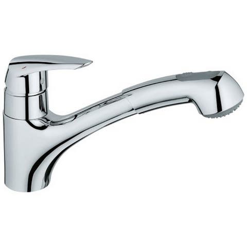 Grohe Starlight Chrome Eurodisc Pull-out Spray Kitchen Faucet